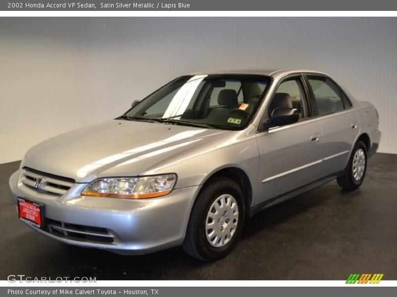 Satin Silver Metallic / Lapis Blue 2002 Honda Accord VP Sedan
