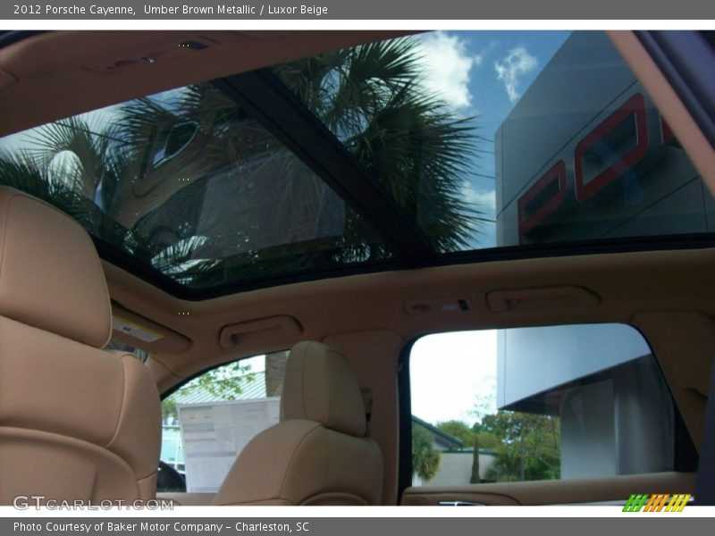 Sunroof of 2012 Cayenne
