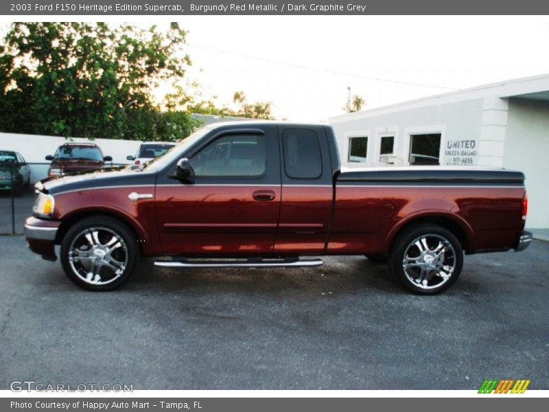 Ford Heritage Edition Supercab Burgundy Red Metallic