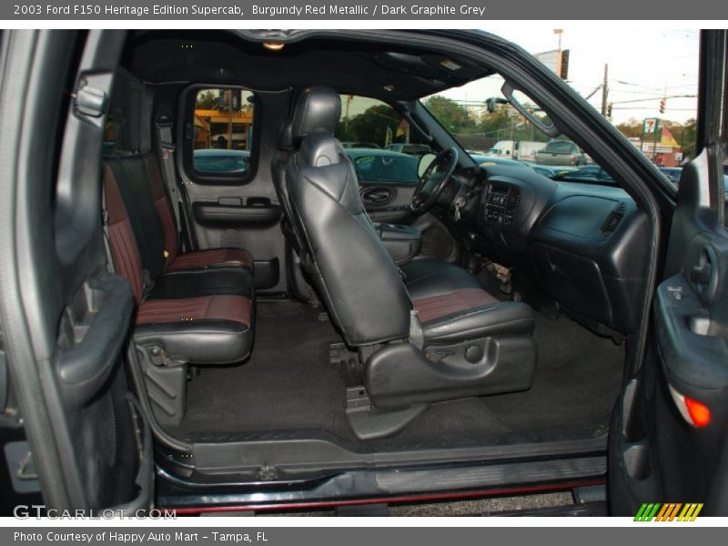 Burgundy Red Metallic / Dark Graphite Grey 2003 Ford F150 Heritage Edition Supercab