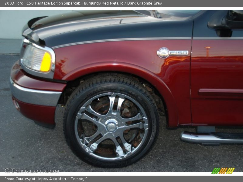 Burgundy Red Metallic / Dark Graphite Grey 2003 Ford F150 Heritage Edition Supercab