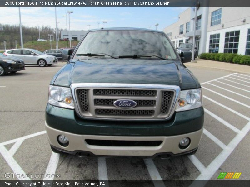 Forest Green Metallic / Tan/Castaño Leather 2008 Ford F150 King Ranch SuperCrew 4x4