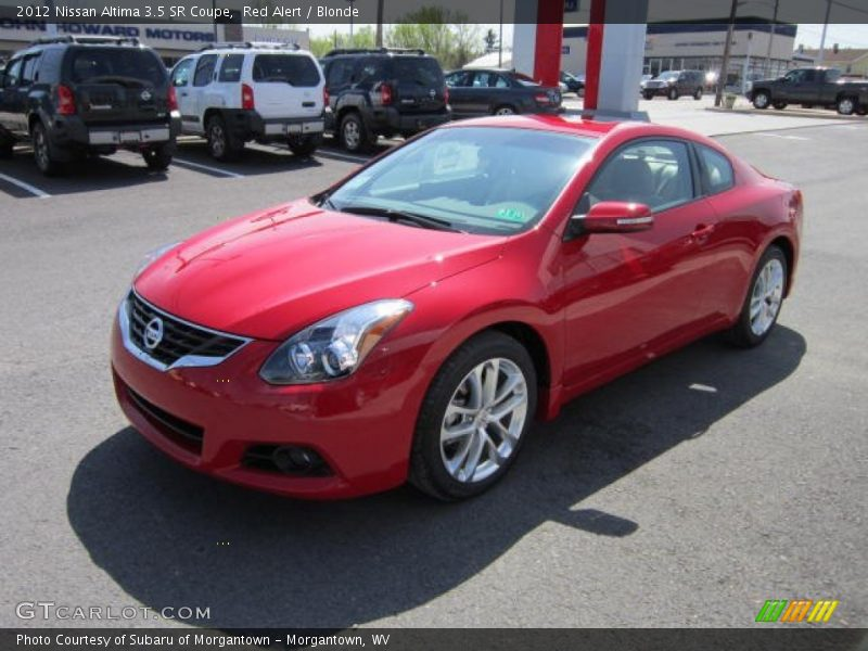 2012 Nissan Altima 3 5 Sr Coupe In Red Alert Photo No