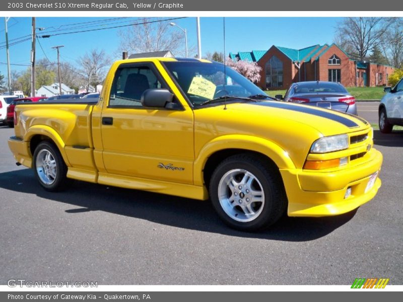 2003 Chevy S10 Extreme 2003 Chevrolet S10 Xtreme Regular Cab in Yellow Photo No. 63601484 ...