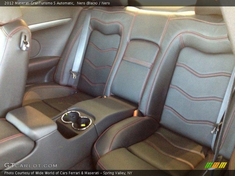 Rear Seat of 2012 GranTurismo S Automatic