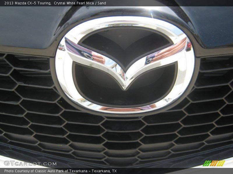 Crystal White Pearl Mica / Sand 2013 Mazda CX-5 Touring