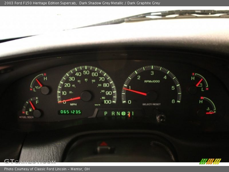 Dark Shadow Grey Metallic / Dark Graphite Grey 2003 Ford F150 Heritage Edition Supercab