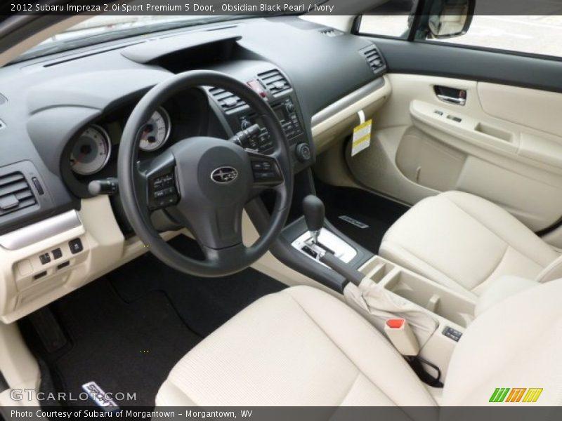 2012 Impreza Sport Premium 5 Door Ivory Interior Photo No 64043966