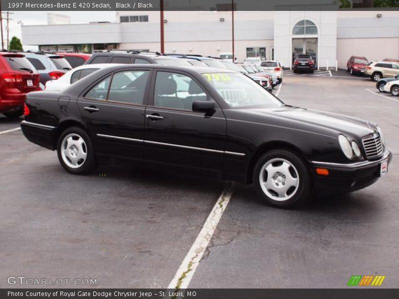 Black / Black 1997 Mercedes-Benz E 420 Sedan