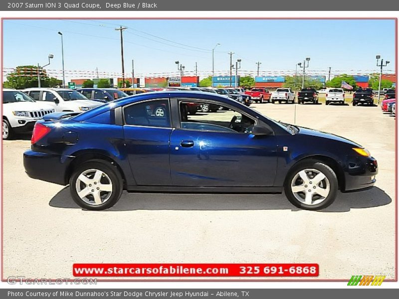 2007 saturn ion 3 quad coupe in deep blue photo no. Black Bedroom Furniture Sets. Home Design Ideas