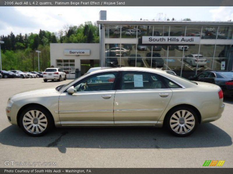 2006 Audi A8 L 4 2 Quattro In Platinum Beige Pearl Effect