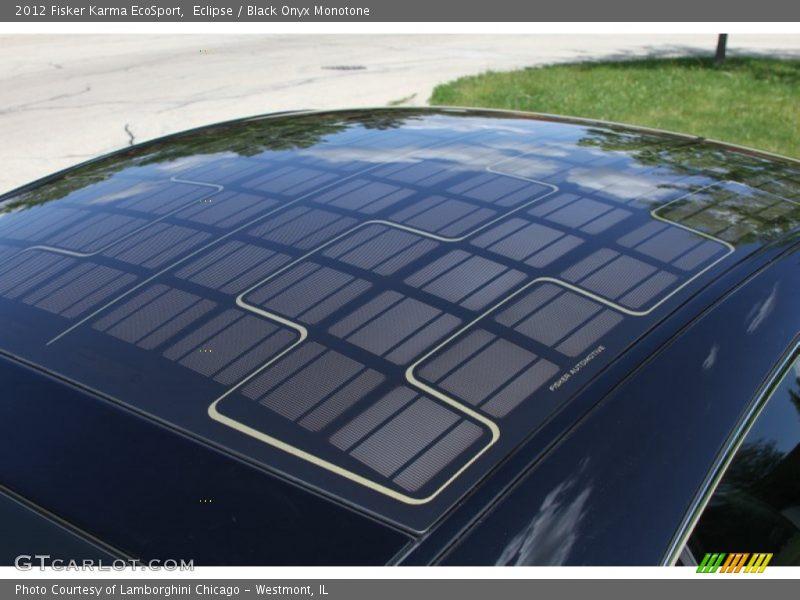 Solar roof panels - 2012 Fisker Karma EcoSport