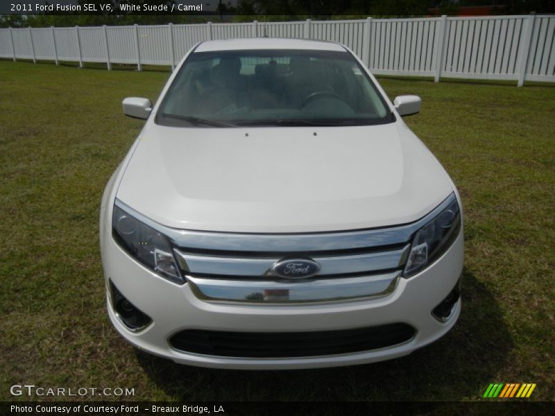 White Suede / Camel 2011 Ford Fusion SEL V6