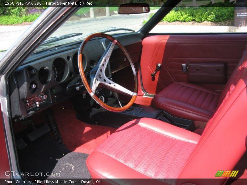 1968 AMX 390 Red Interior