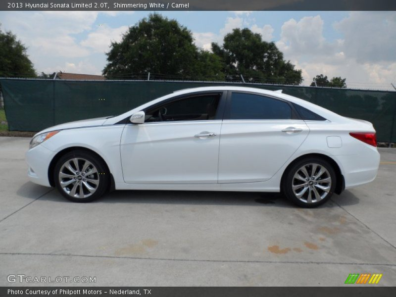 2013 Hyundai Sonata Limited 2 0t In Shimmering White Photo