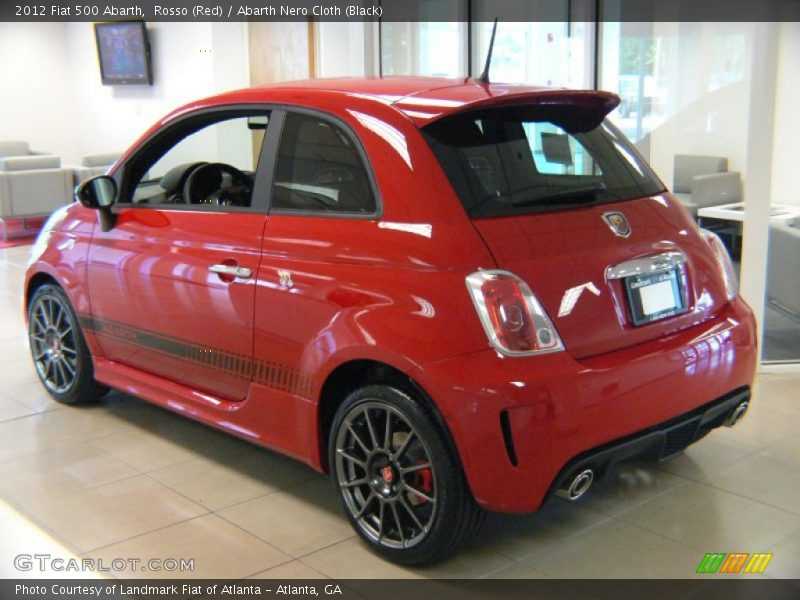 2012 500 Abarth Rosso (Red)
