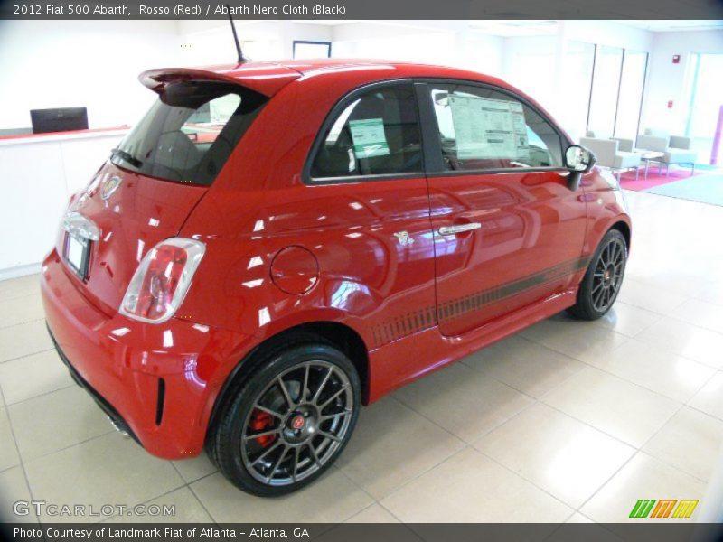 Rosso (Red) / Abarth Nero Cloth (Black) 2012 Fiat 500 Abarth
