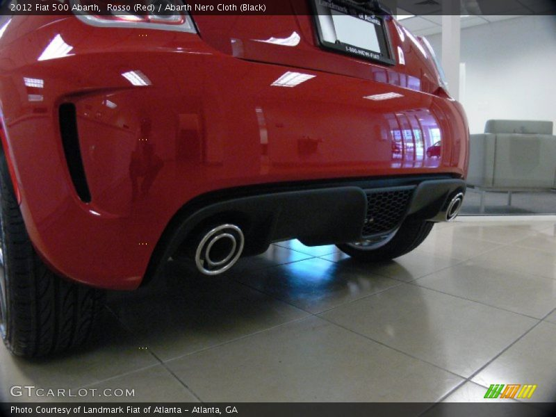 Exhaust of 2012 500 Abarth