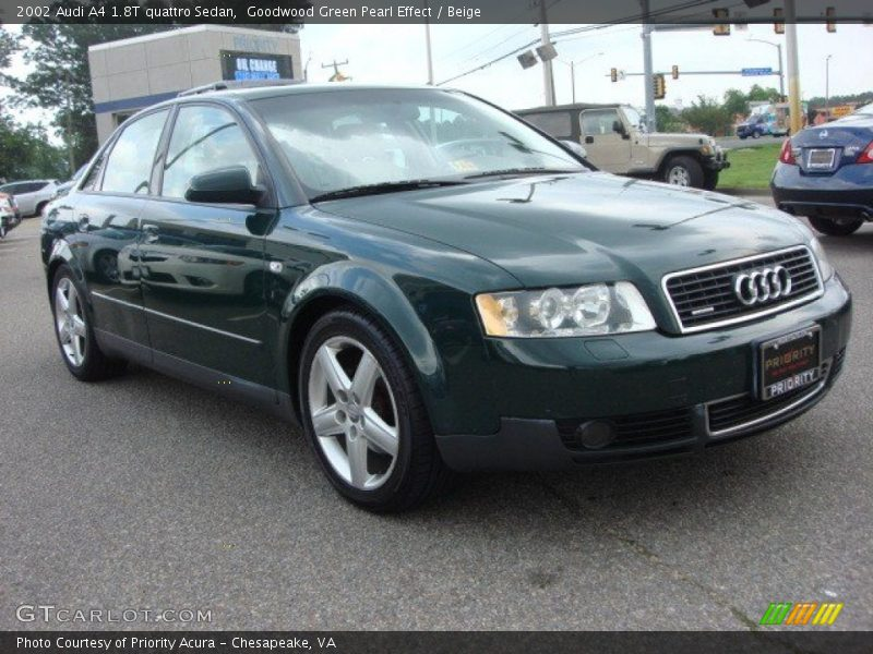 2002 audi a4 1 8t quattro sedan in goodwood green pearl. Black Bedroom Furniture Sets. Home Design Ideas