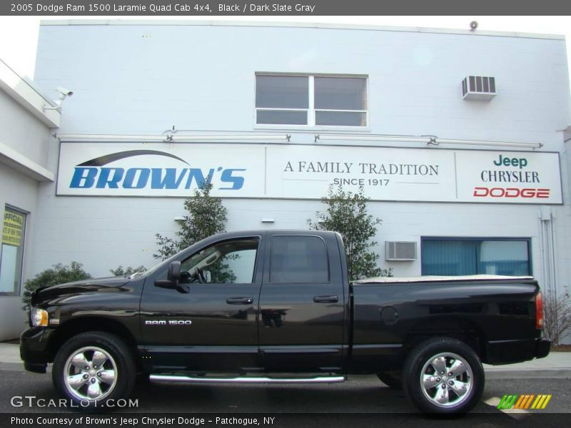2005 dodge ram 1500 laramie quad cab 4x4 in black photo no 6553467