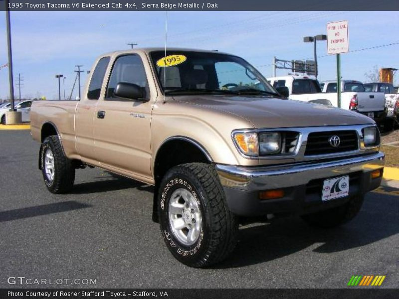 1995 toyota tacoma v6 extended cab 4x4 in sierra beige metallic photo no 6582818. Black Bedroom Furniture Sets. Home Design Ideas