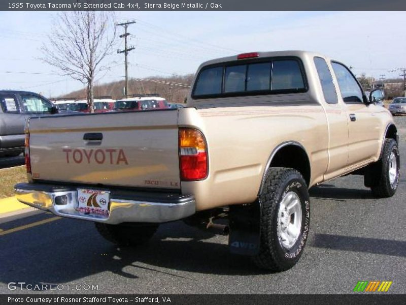 1995 toyota tacoma v6 extended cab 4x4 in sierra beige metallic photo no 6582828. Black Bedroom Furniture Sets. Home Design Ideas