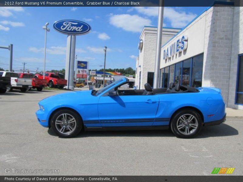 2012 ford mustang v6 premium convertible in grabber blue. Black Bedroom Furniture Sets. Home Design Ideas