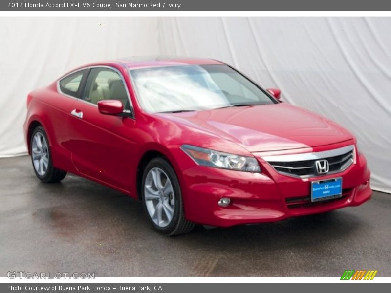 2012 honda accord ex l v6 coupe in san marino red photo no. Black Bedroom Furniture Sets. Home Design Ideas