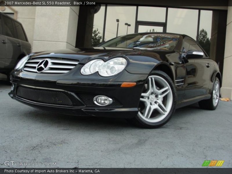2007 mercedes benz sl 550 roadster in black photo no for G stone motors used cars