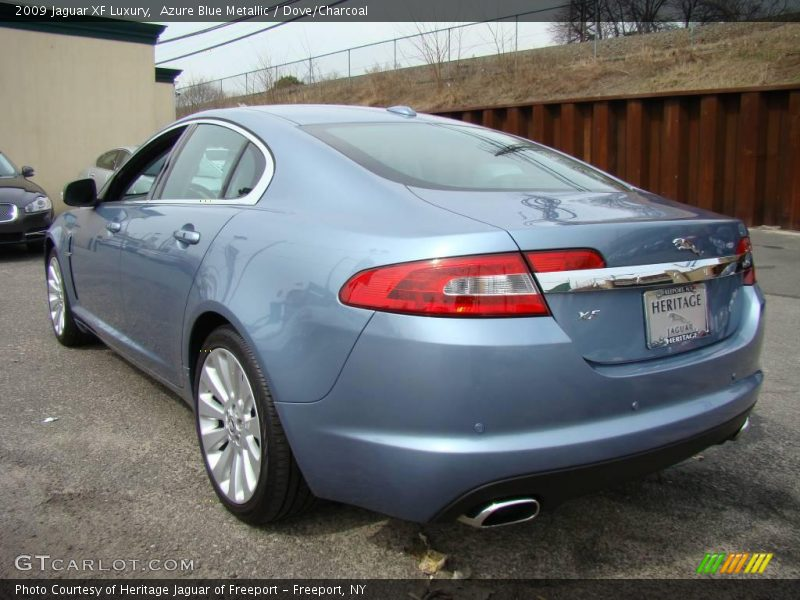 Azure Blue Metallic / Dove/Charcoal 2009 Jaguar XF Luxury