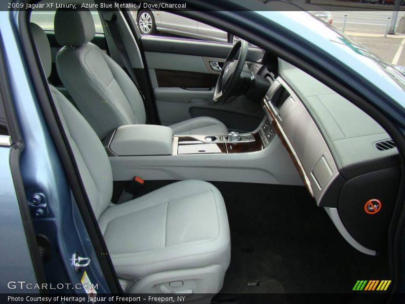 Azure Blue Metallic / Dove/Charcoal 2009 Jaguar XF Luxury