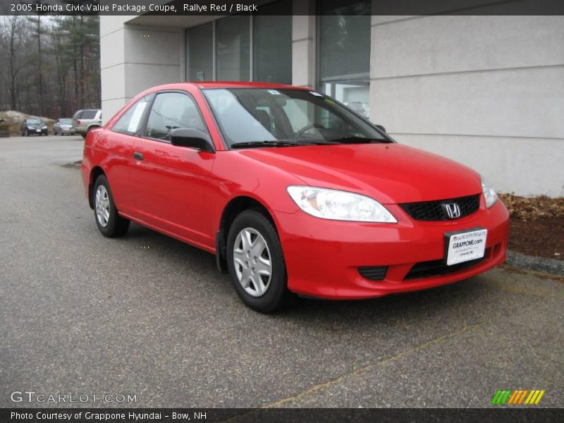 2005 honda civic value package coupe in rallye red photo no 6761465. Black Bedroom Furniture Sets. Home Design Ideas