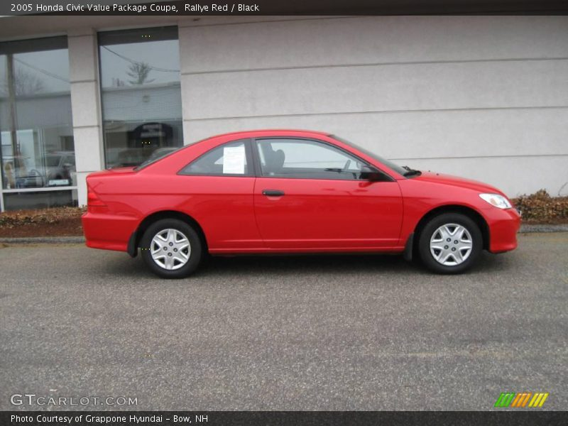 2005 honda civic value package coupe in rallye red photo no 6761490. Black Bedroom Furniture Sets. Home Design Ideas