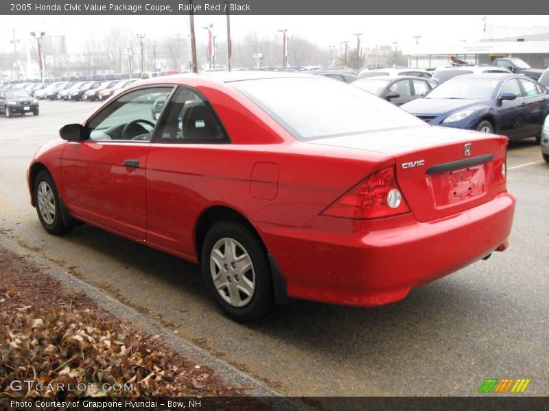 2005 honda civic value package coupe in rallye red photo no 6761505. Black Bedroom Furniture Sets. Home Design Ideas
