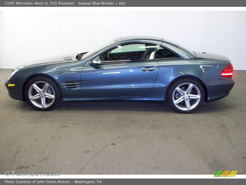2006 mercedes benz sl 500 roadster in aegean blue metallic photo no 6772057. Black Bedroom Furniture Sets. Home Design Ideas