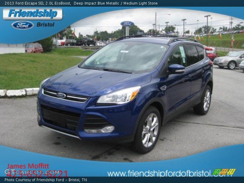 2013 ford escape sel 2 0l ecoboost in deep impact blue metallic photo no 67772678 gtcarlot com