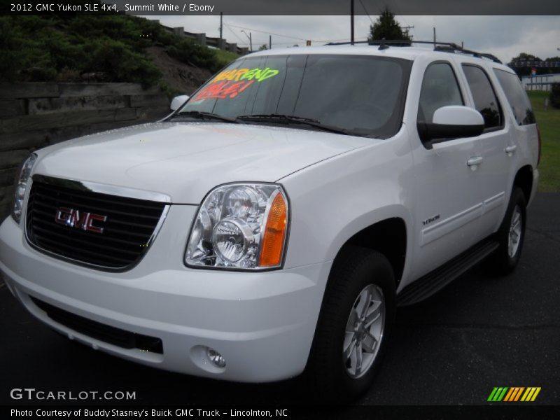 Summit White / Ebony 2012 GMC Yukon SLE 4x4