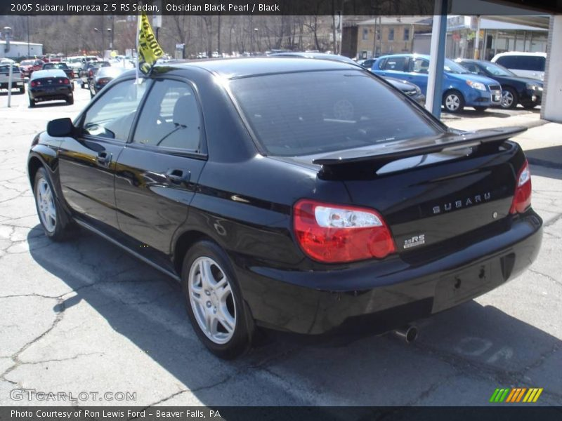 2005 Subaru Impreza 2 5 Rs Sedan In Obsidian Black Pearl