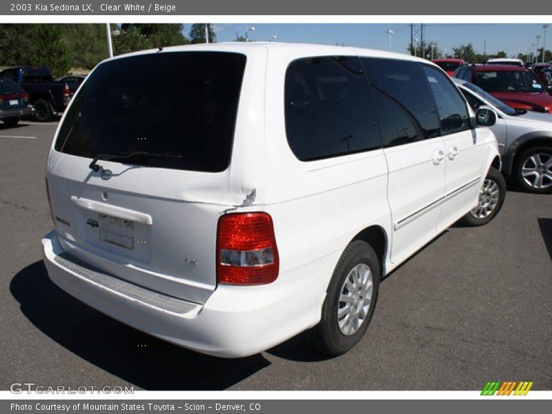 Clear White / Beige 2003 Kia Sedona LX