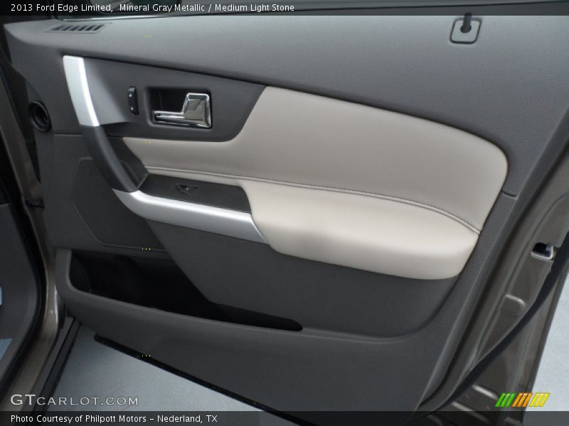 Mineral Gray Metallic / Medium Light Stone 2013 Ford Edge Limited