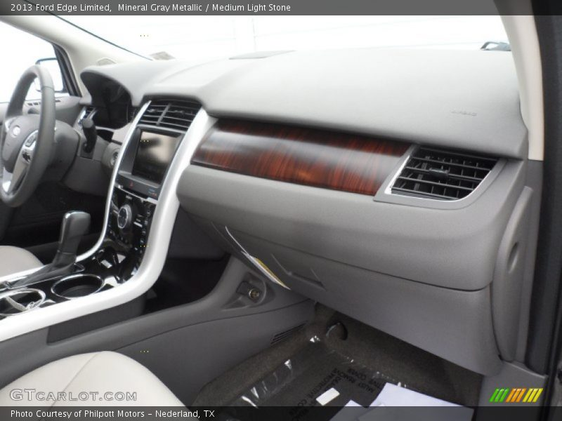 Mineral Gray Metallic / Medium Light Stone 2013 Ford Edge Limited