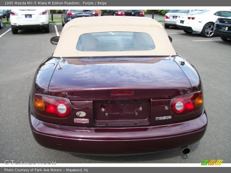 1995 mazda mx 5 miata m edition roadster in purple photo no 68712601. Black Bedroom Furniture Sets. Home Design Ideas