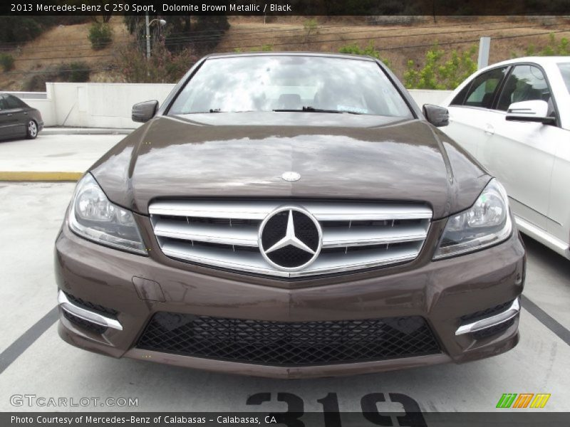 2013 mercedes benz c 250 sport in dolomite brown metallic for Mercedes benz genuine polar white touch up paint code 149
