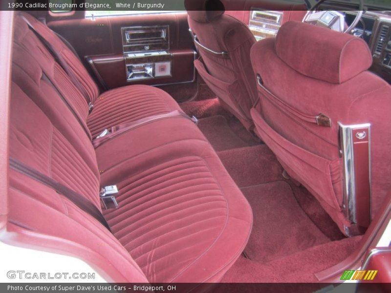 Rear Seat of 1990 Brougham d'Elegance