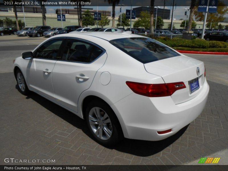 2013 Acura ILX 2.0L In Bellanova White Pearl Photo No