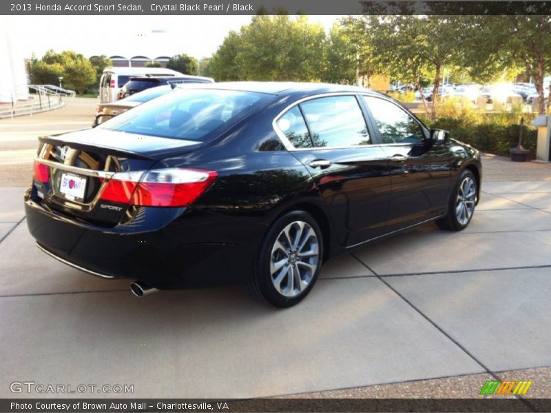 Crystal Black Pearl / Black 2013 Honda Accord Sport Sedan