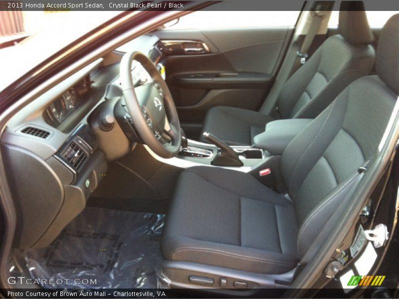 Front Seat of 2013 Accord Sport Sedan
