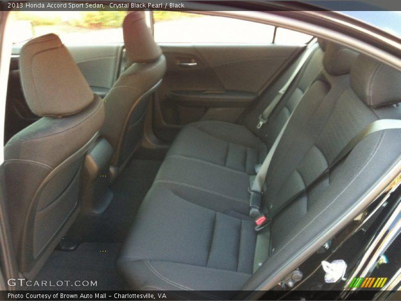 Rear Seat of 2013 Accord Sport Sedan