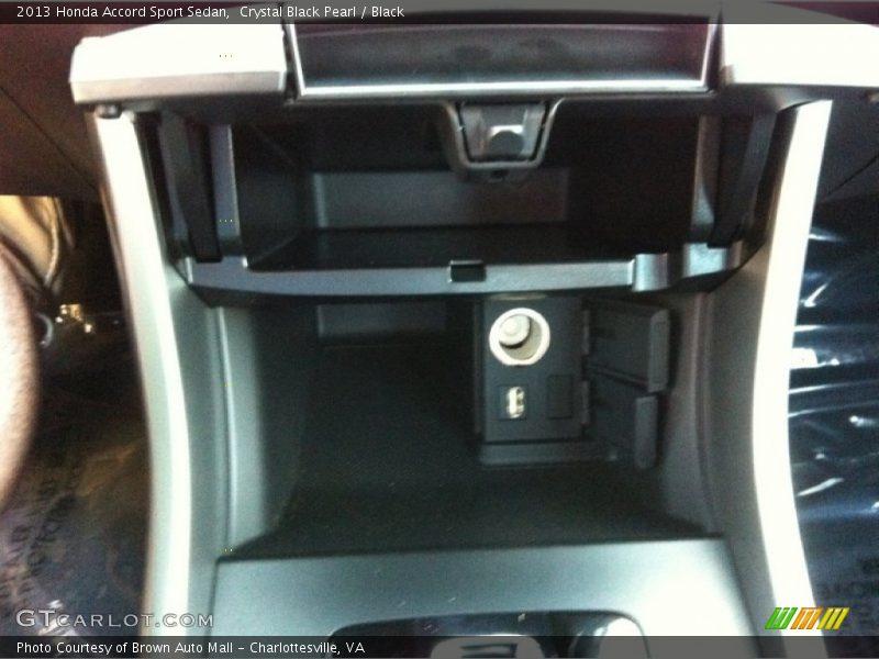 Crystal Black Pearl / Black 2013 Honda Accord Sport Sedan