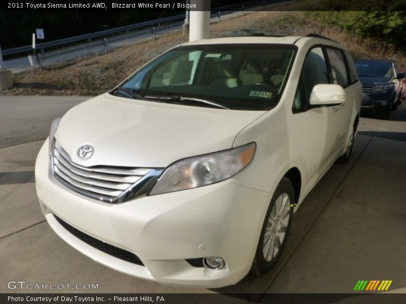 2013 toyota sienna limited awd in blizzard white pearl. Black Bedroom Furniture Sets. Home Design Ideas